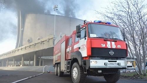 пожар во Дворце спорта в Красноярске