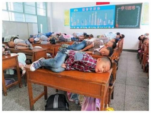 тихий час в школах Китая